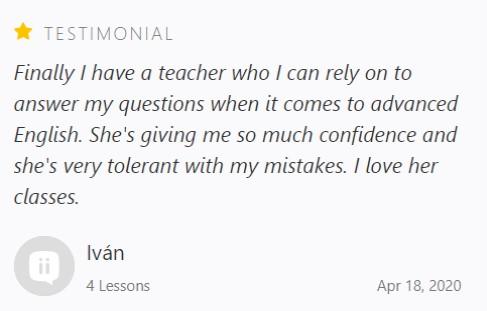 Ivan Coaching Testimonial